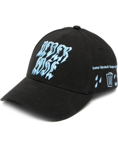 Bawełna bawełna czarny czapka z daszkiem z haftem Diesel