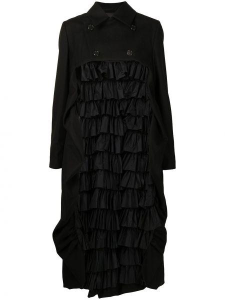 Черное пальто классическое Comme Des Garçons Noir Kei Ninomiya