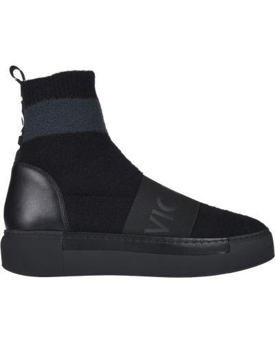Кожаные кроссовки - черные Vic Matie
