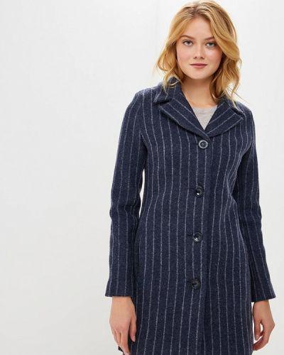 Синее пальто с капюшоном Gregory