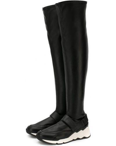 Черные кожаные сапоги Pierre Hardy