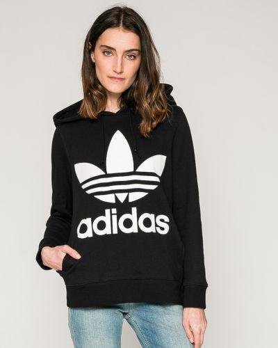 Черная кофта с капюшоном Adidas Originals