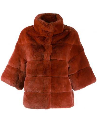 Красное стеганое пальто с воротником S.w.o.r.d 6.6.44