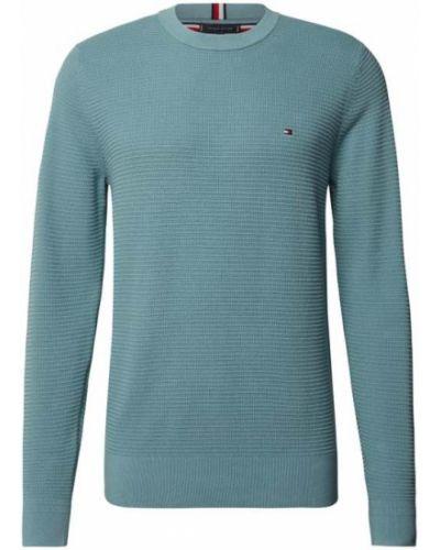 Sweter dzianinowy - turkusowy Tommy Hilfiger