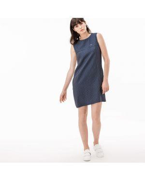 Платье макси в полоску с карманами Lacoste