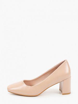 Кожаные бежевые туфли закрытые Tulipano