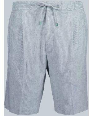 Niebieskie krótkie szorty w paski bawełniane Lardini