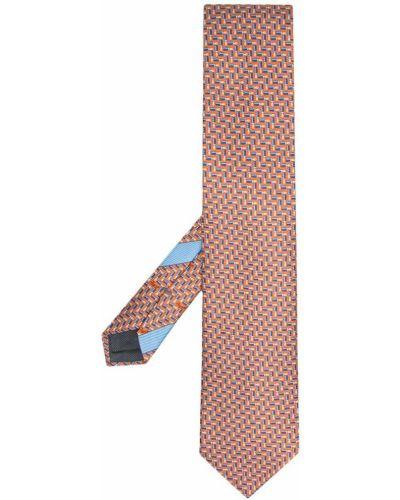 Шелковая оранжевая резинка для волос Ermenegildo Zegna