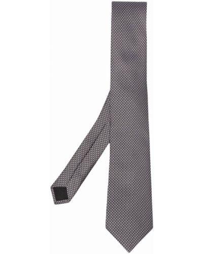 Krawat z jedwabiu - biały Boss Hugo Boss