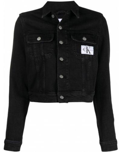 Хлопковая джинсовая куртка - черная Ck Calvin Klein