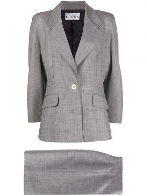 Z rękawami z wysokim stanem wełniany spódnica maxi z kieszeniami Gianfranco Ferré Pre-owned
