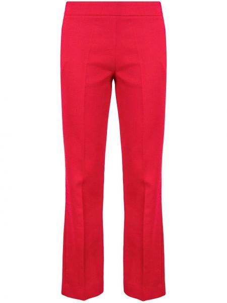 Хлопковые красные брюки на молнии Giambattista Valli