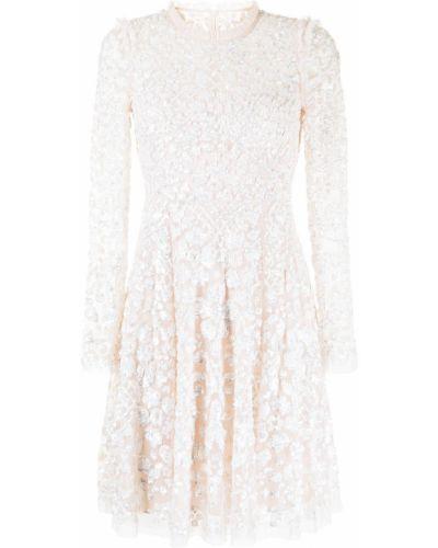 Розовое платье с воротником Needle & Thread