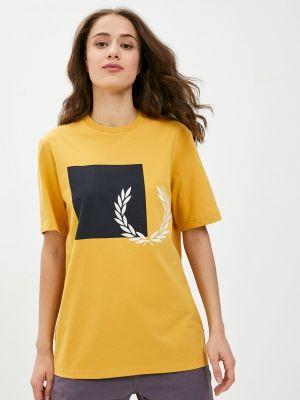 Оранжевая футболка с короткими рукавами Fred Perry