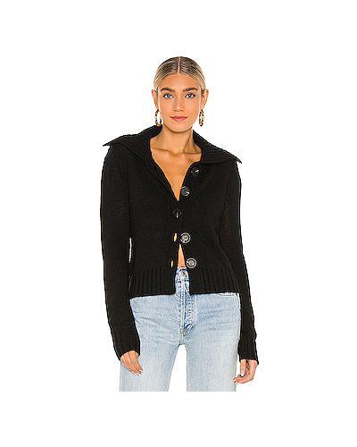 Черный акриловый свитер L'academie