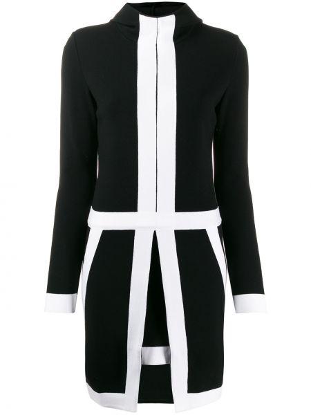 Czarna sukienka mini z długimi rękawami Genny
