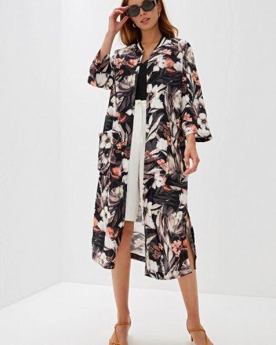 Платье платье-рубашка черное Belarusachka