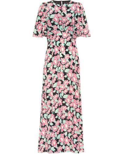 Платье макси розовое с цветочным принтом Les Reveries