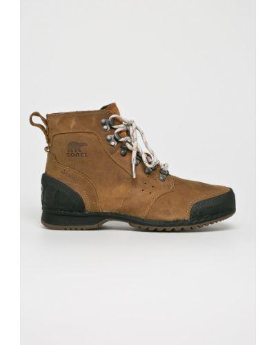 Ботинки на шнуровке кожаные текстильные Sorel