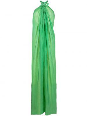 Зеленое платье макси без рукавов Bambah