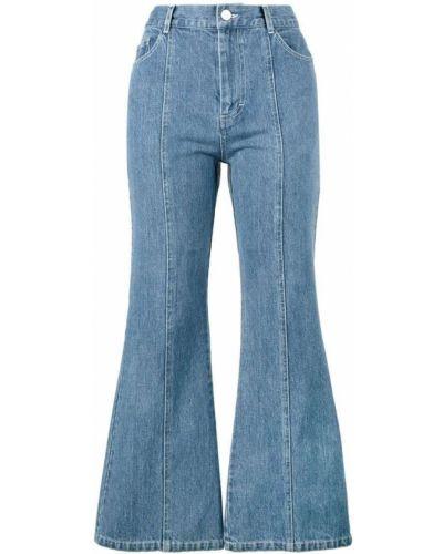 Синие расклешенные джинсы Sandy Liang