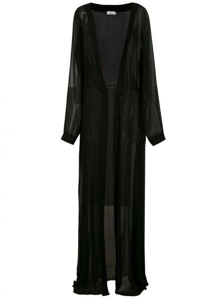 Шелковая с рукавами черная накидка прозрачная Amir Slama