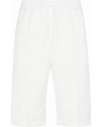 Białe szorty bawełniane Jil Sander