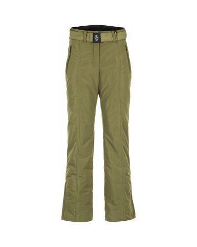 Зеленые брюки утепленные Glissade