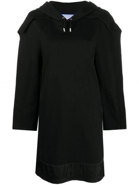 С рукавами черное платье макси прозрачное Koché