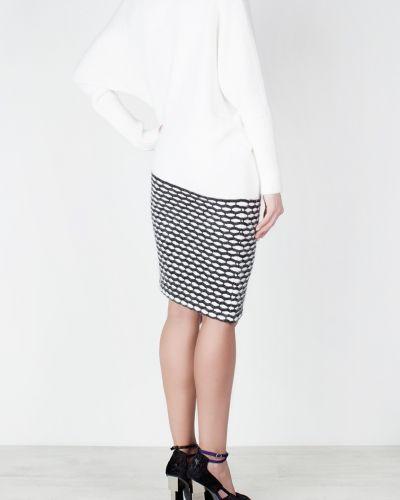 Шерстяное белое платье с длинными рукавами Jay Ahr