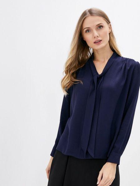 Блузка с длинным рукавом осенняя синяя Adl