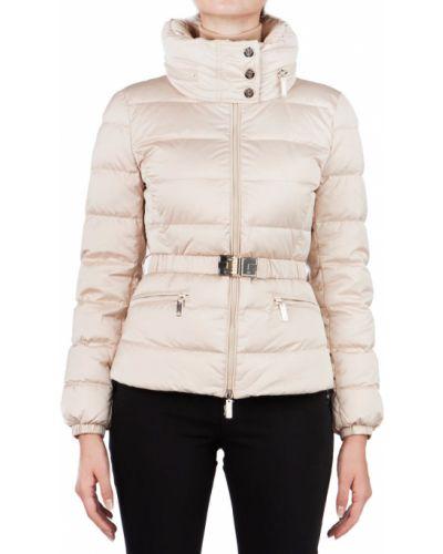 Куртка с перьями - бежевая Elisabetta Franchi