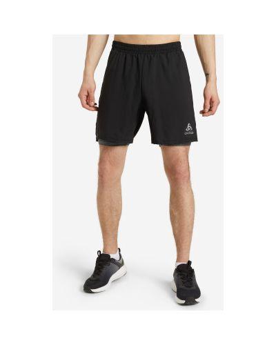Черные шорты для бега Odlo
