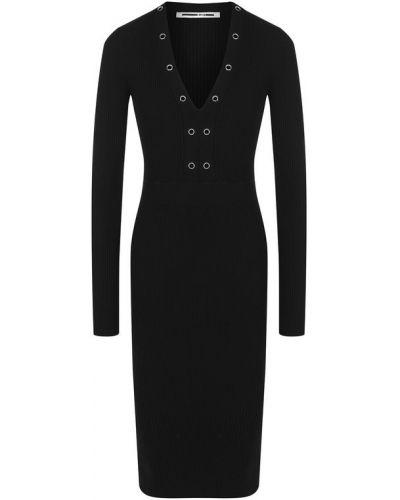 Платье с V-образным вырезом приталенное Mcq
