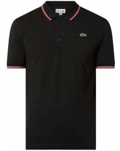 Czarna koszulka bawełniana Lacoste