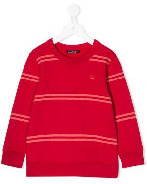 Bluza w paski z haftem z długimi rękawami Acne Studios Kids