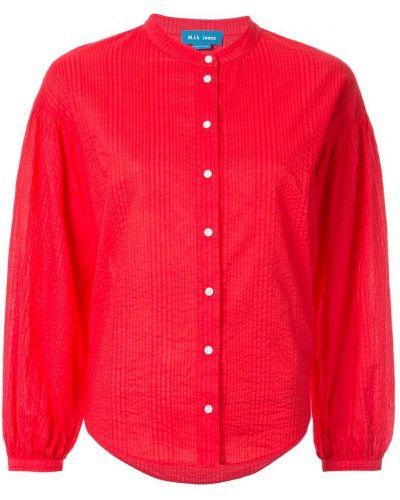 Джинсовая рубашка на пуговицах с разрезом с запахом Mih Jeans