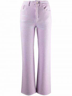 Fioletowe klasyczne spodnie Barrie