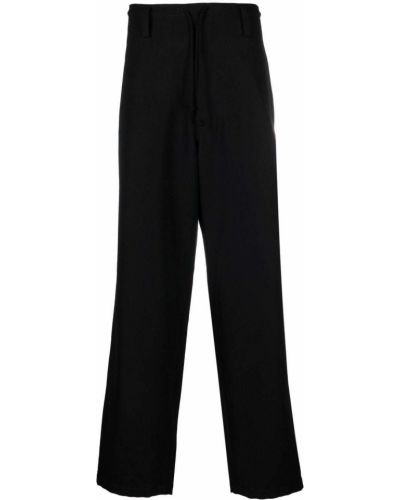 Czarne spodnie wełniane Yohji Yamamoto