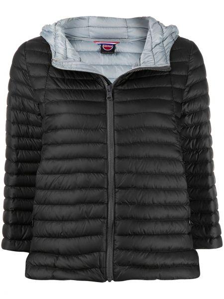 Прямая черная стеганая куртка с карманами с перьями Colmar