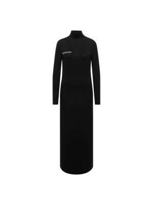 Платье макси длинное - черное Pangaia