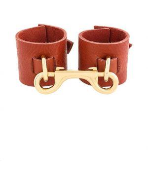 Красный кожаный браслет Absidem