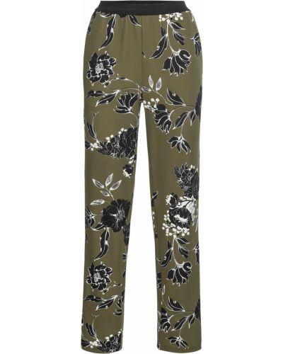 Свободные брюки с лампасами оливковый Bonprix