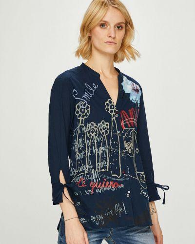 Блузка с длинным рукавом с рукавом 3/4 прямая Desigual