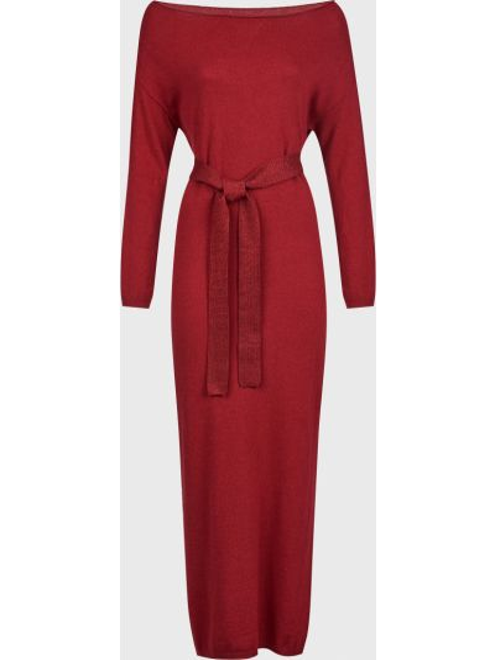 Шерстяное красное платье с поясом Kontatto