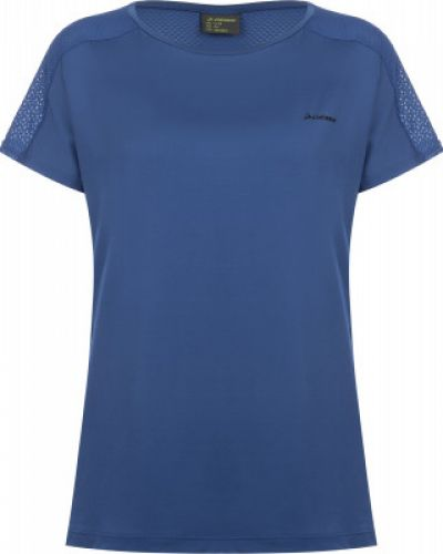 Прямая синяя спортивная футболка для фитнеса Demix