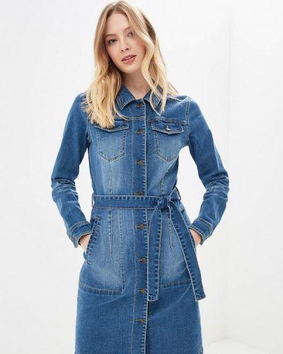 Джинсовое платье осеннее синее Blendshe