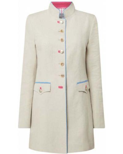 Beżowy płaszcz bawełniany zapinane na guziki White Label