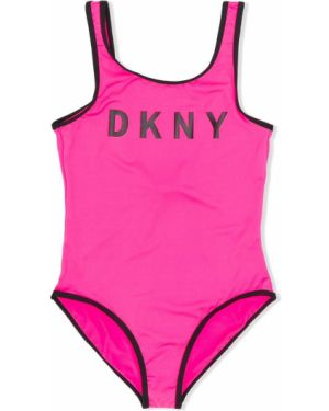 Купальник с принтом розовый Dkny Kids