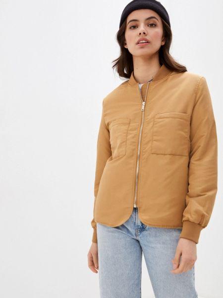 Утепленная куртка весенняя коричневая Vero Moda